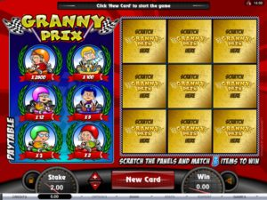 Granny Prix Instant Win Scratchies